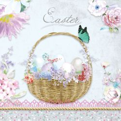 Servetel decor 33*33cm - pastel easter