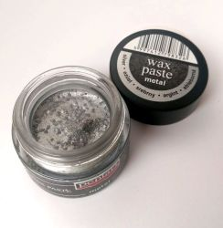 Pasta ceara metalica 20 ml - wax paste - argintie
