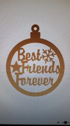 Glob din MDF 9cm - Best friends forever
