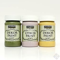 Dekor Soft Paint de 100 ml - rosu cardinal