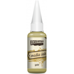 Cerneală Media Ink 20ml  - auriu