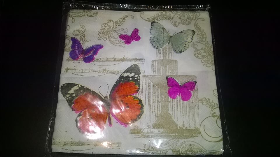 Servetel decor 33*33cm - butterflies