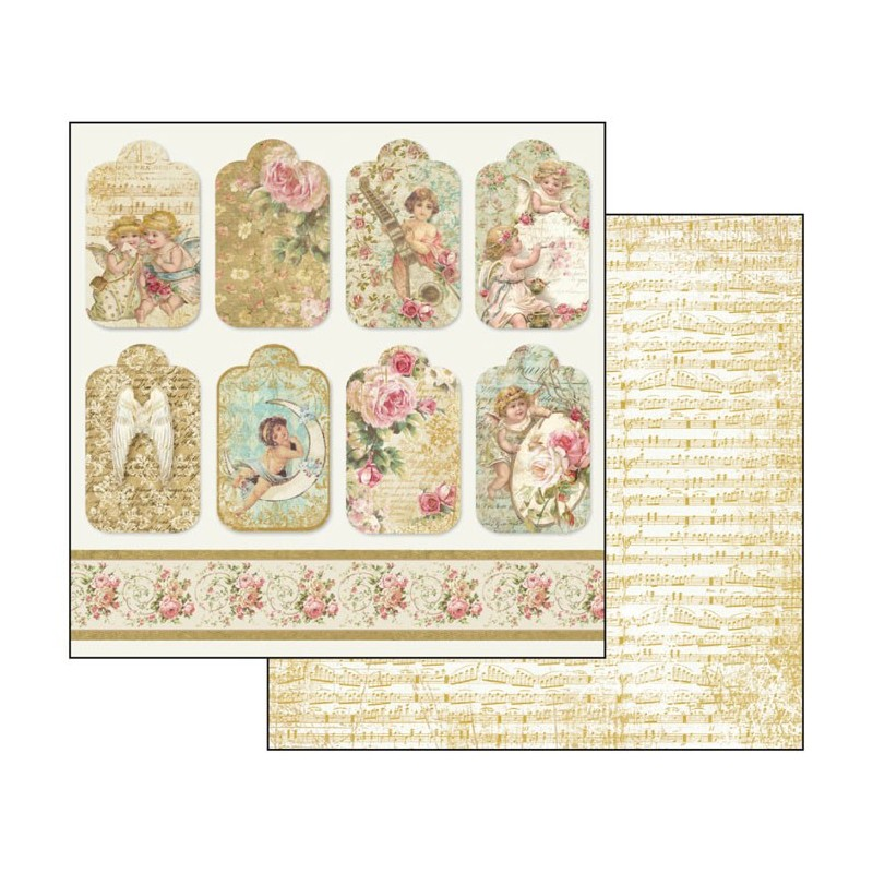 Hartie scrapbooking 31,5*30,5cm - angels tags