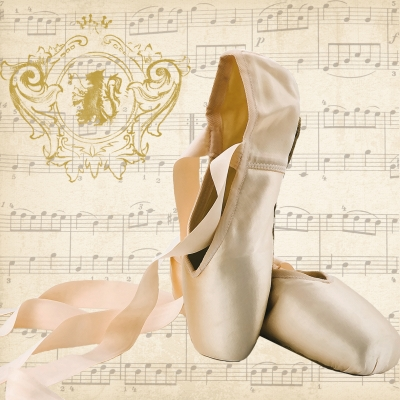 Servetel decor 33*33cm - Concerto Ballet