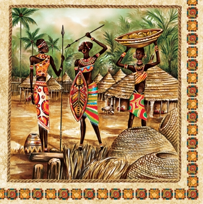 Servetel decorativ 33*33cm - Africa