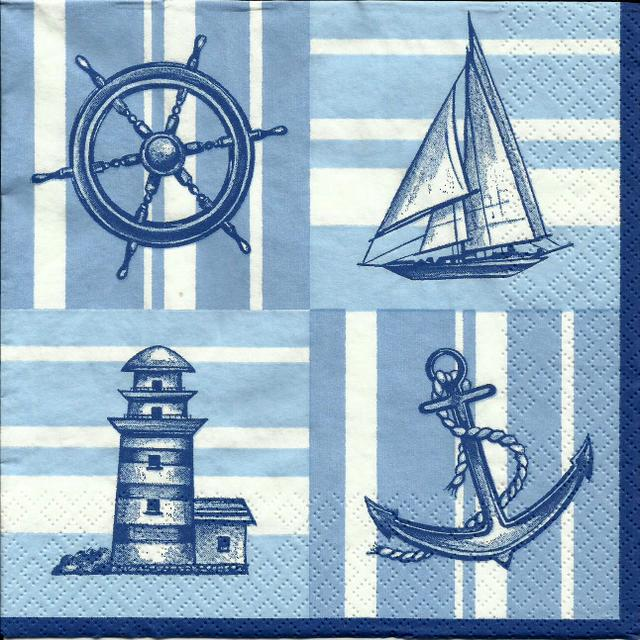 Servetel decor 33*33cm - Nautical Pattern