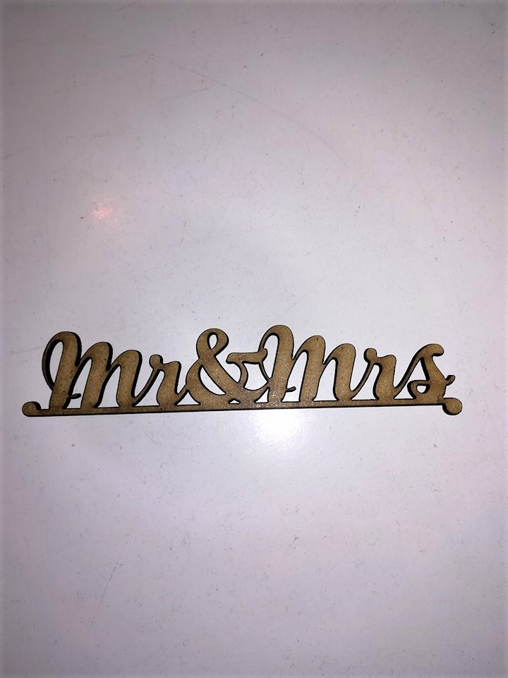 Mr & Mrs din MDF 12*2.8cm