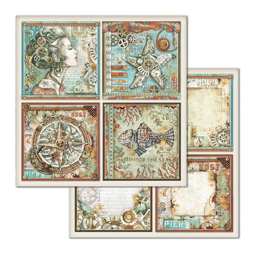 Hartie de scrapbooking 31.5*30cm - sea world