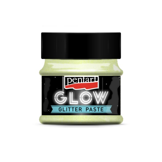Pasta cu glitter, glow 50ml - rainbow blue