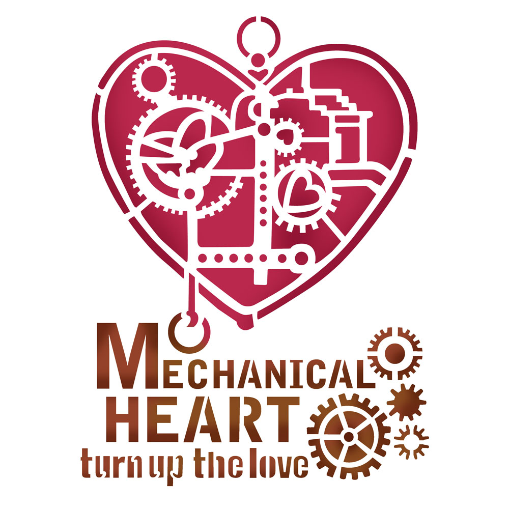 Sablon 20*15cm - Mechanical Heart
