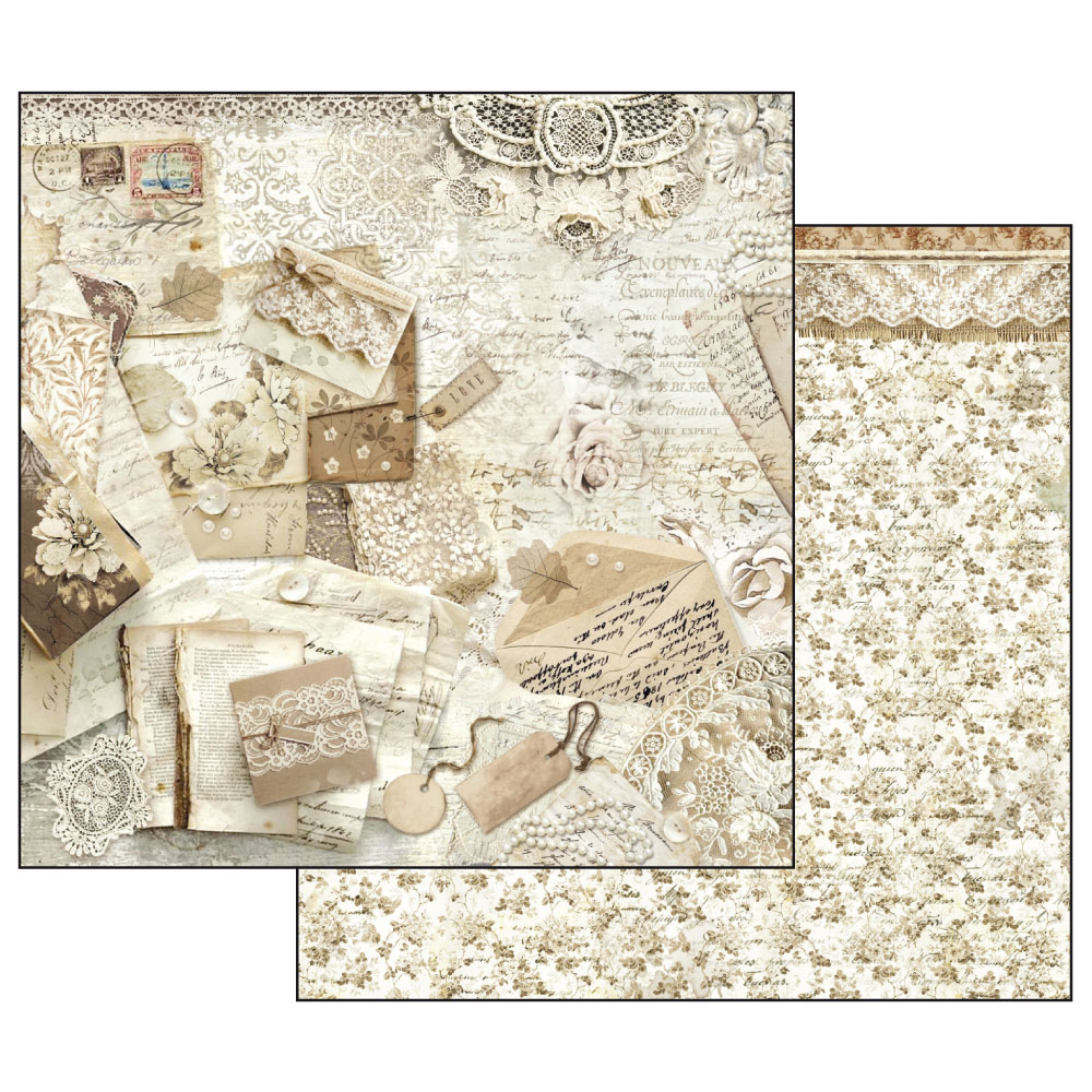 Hartie scrapbooking 31.2X30.3CM - Lace Cards and Laces