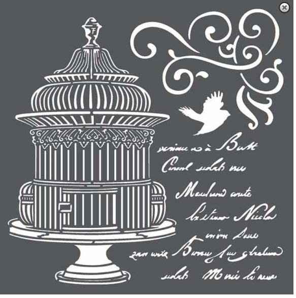 Sablon 18*18cm / 0.5mm - Little cage with scriptures