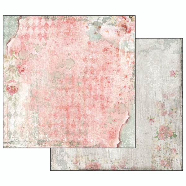 Hartie scrapbooking 31.2x30.3 cm - Dream texture with rose